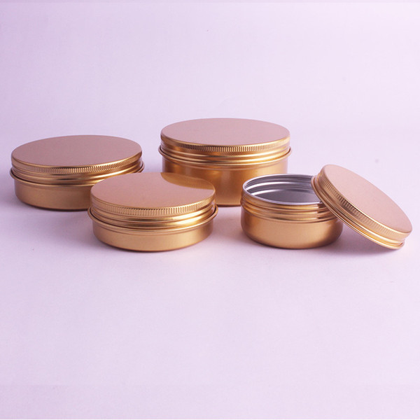 50g 60g Top Quality Cream Refillable Metal Aluminum Jar Tin Screw Thread Cosmetic Lip Balm Mask Ointment Containers 100pcs