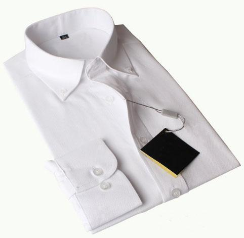 Global USA Fashion Men Polo Dress Shirts Small Pony Embroidery Cotton Long Sleeve Solid Formal Shirt For Business Suits White Pink