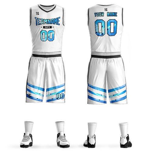 cutom The latest basketball uniform casual outdoor sportswear diversified custom patterns to create your own basketball uniforms