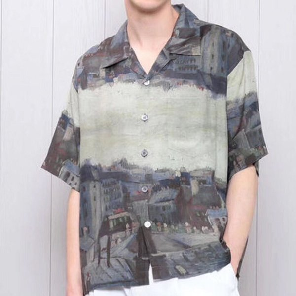 2019 Hot Sell UNUSED Van Gogh Museum Tee Shirt Color Matching House Summer Beach T Shirt Fashion Street Holiday Clothing Outwear Jacket HFYMTX594 From