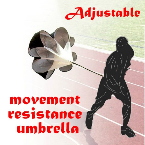 best selling 56 Inch Outdoor Speed Training Resistance Parachute Agility Training Umbrella Resistance Rope Running Chute Soccer Football Training Tool
