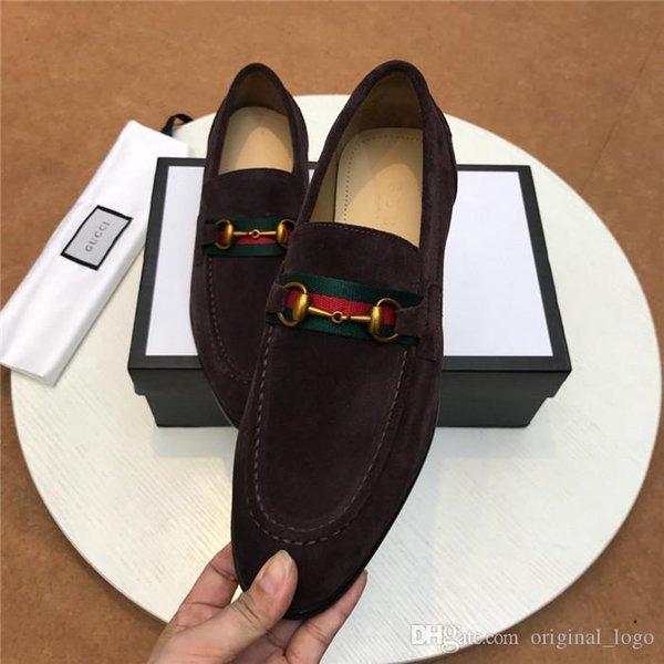 8LouisVuittonGucciprincipais homens de luxo de qualidade mulheres casuais genuína caminhada couro Sports sapatilha sapatos para Box 04