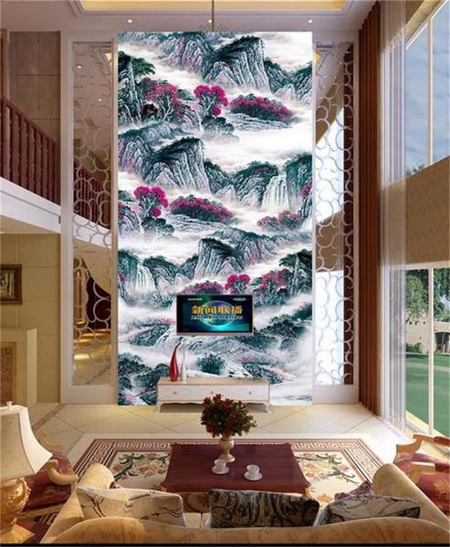 Formato personalizzato 3d foto wallpaper soggiorno murale Inchiostro Arte Pittura A Olio 3d immagine portico sfondo pittura carta da parati non tessuto wall sticker