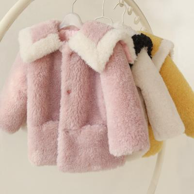 Kids Parkas Down Warm Teenager Winter Jackets Down Baby Girls Fur Winter Coat Turn-Down Collar Children Winter Outerwear Faux Fur Jacket