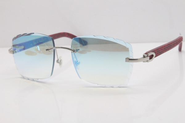 Silberne blaue Spiegellinse