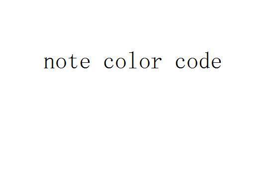 Código de color de la nota
