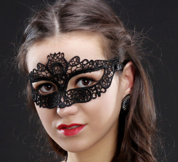 2019 Black Lace Cat head Maschere sexy pizzo mezza faccia festa Masquerade Maschera Cosplay Maschere per Ragazze Testa Pizzo Sexy Maschera di Carnevale