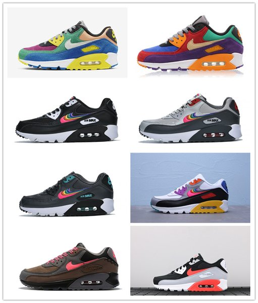top popular 2019 New Men 90 Women Sports sneakers Viotech INFRARED CHINA ROSE BE TRUE White-Laser Fuchsia Running shoes Fashion Mens Trianers 36-47 2020