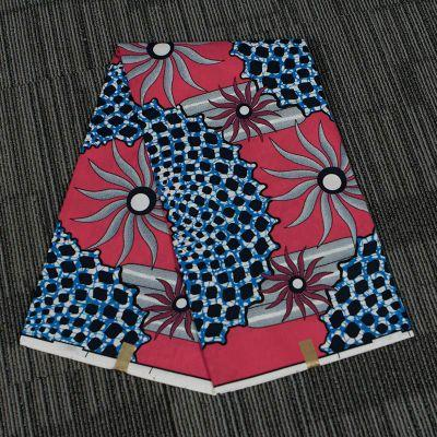 top popular 100% Polyester African Batik Printed Fabric Retro Geometric Pattern Digital Printed Fabric for party dress gift 2021