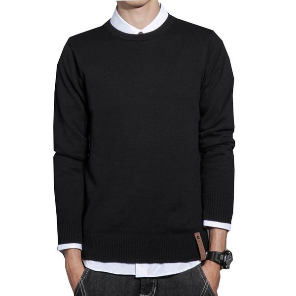 2018 New Autumn Fashion Brand Casual Sweater Men O-Neck Slim Fit Solid Men Sweaters Pullovers Male