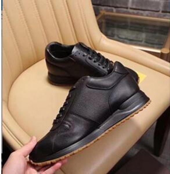 2019de haute qualité Top Luxury Flats Designer Hommes Chaussures Célèbre Style De La Mode En Cuir Véritable Chaussures Hommes Casual Chaussures 38-45 y02