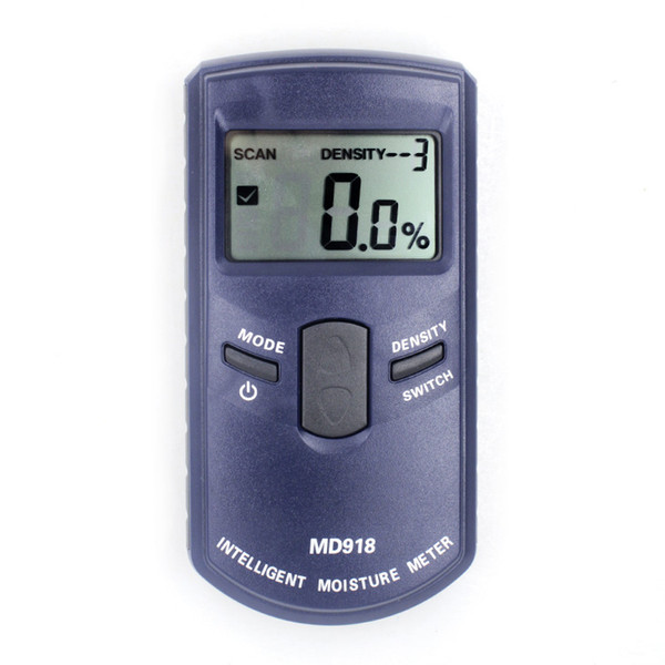 Freeshipping digital wood moisture meter MD918 10 grades of wood density available MOQ=1 free shipping