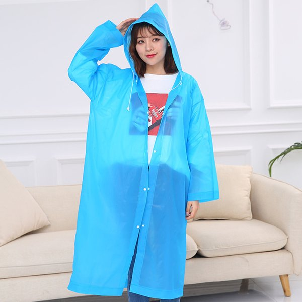 Fashion Women Men PEVA Transparent Raincoat Reusable Impermeable Raincoat Travel Camping Must Rain Coat Unisex Dropshipping
