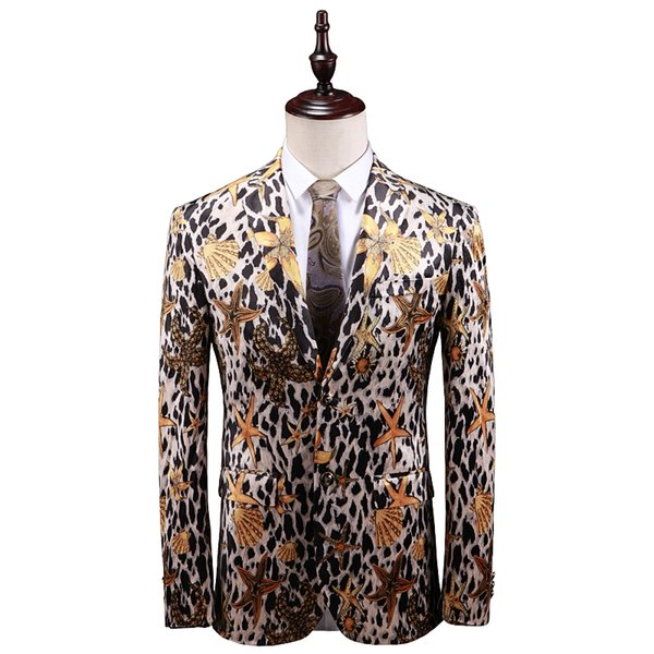 2020 Asian Size Exclusive Fashion Printed Mens Blazers 2019 New Arriva Plus Size M 5XL Ocean Star Attern Floral Suit Jackets For Male From Luweiha,