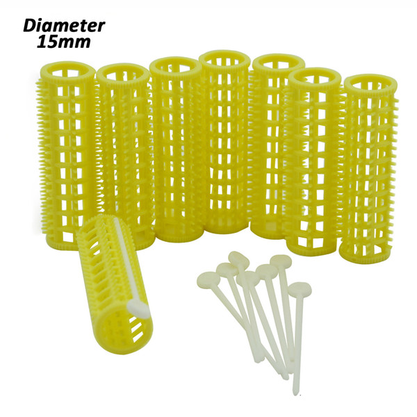 24pcs/set 15mm Plastic Tooth Hair Roller with Fixed Pins Teeth Bars for Air Bang Curling Rods Curlers Hairdresser Styling U1195