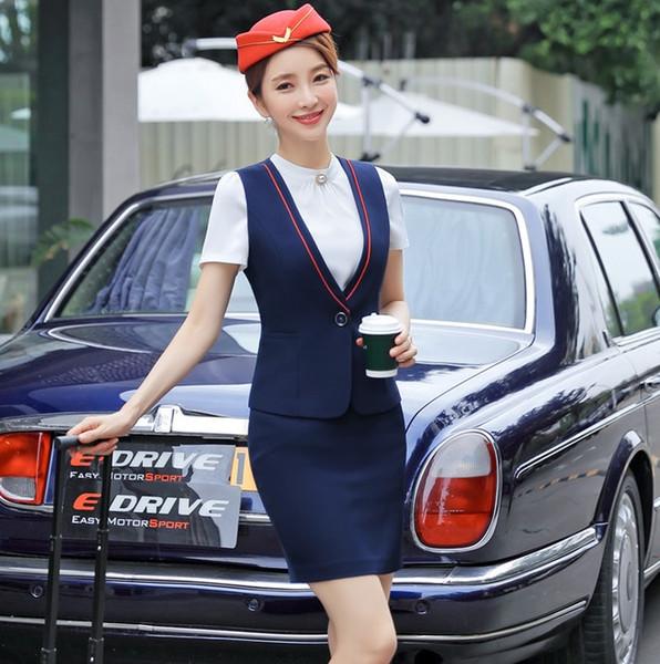 Formal Female Skirt Suits for Women Business Suits Work Wear Sets Ladies Waistcoat & Vests Office Uniform Style