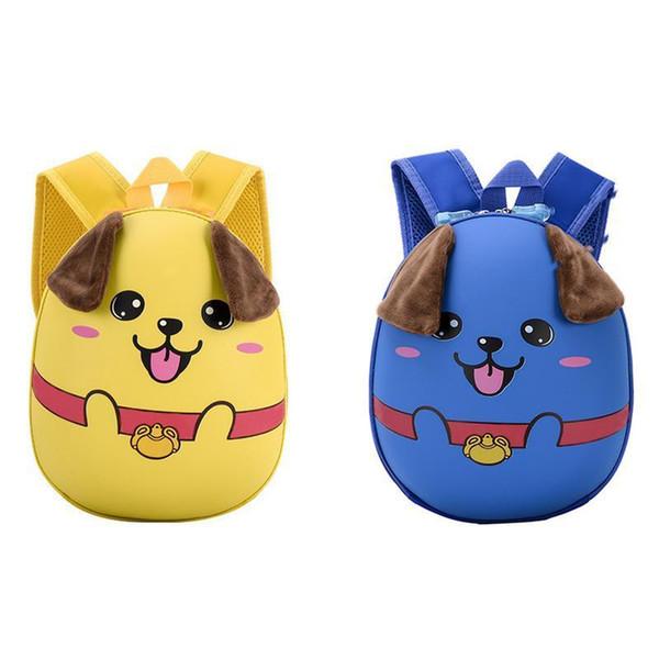 Fashionable Waterproof Backpack Bags Korean Style All-match Cartoon Cute Puppy Pattern Hard Shell Children Backpack School Bag
