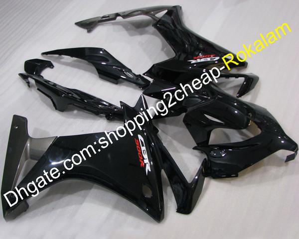 Kit de carénages pour pièces de moto Honda CBR500R 2013 2014 CBR 500R 13 14 carénage de moto noir (moulage par injection)