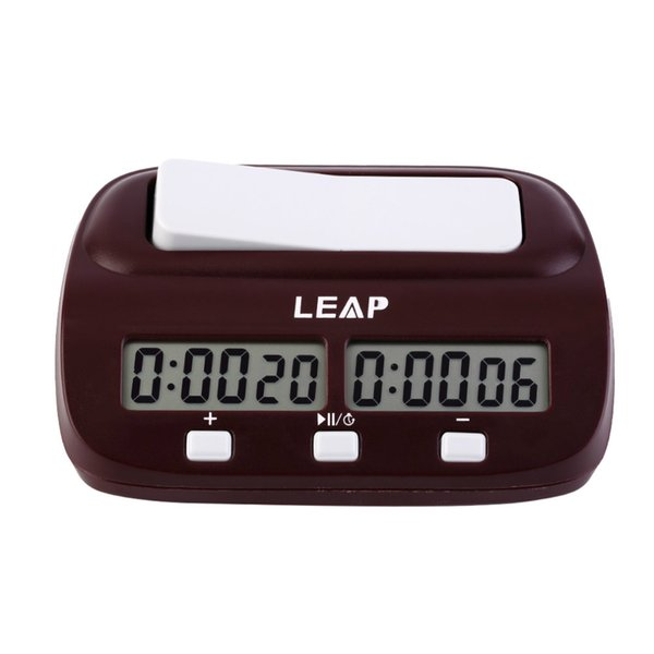 PQ9907 LEAP Professional Compact Digital Chess Clock Count Up Down Timer Electronic Board Game Bonus Competition Master Tournament