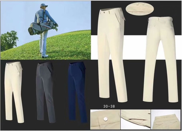 2019 OEM Ti golf long pants Spring/Summer quick dry cultivate figure anti wrinkle sports trousers 3 colors available