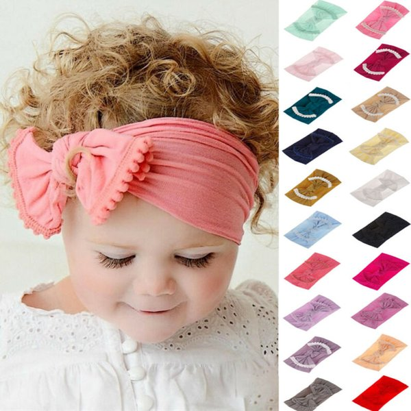 Soft Baby Girls Kids Toddler Bow Hairband Cute Headband Turban Big Knot Head-Wrap Hair Band Accessories Headwear