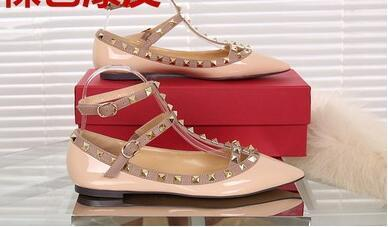 beige patent leather