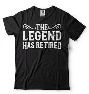 Футболка на пенсию Футболка дедушки Подарочная футболка Рубашка The Legend ушла в отставкуДизайн
