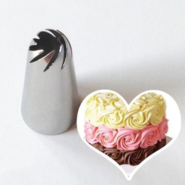 1 Adet DIY Spiral Buzlanma boru ake Krem Çiçek Nozzl Kek Dekorasyon Ucu Setleri Buzlanma boru Nozullar Kek Sugarcraft Pasta Aracı
