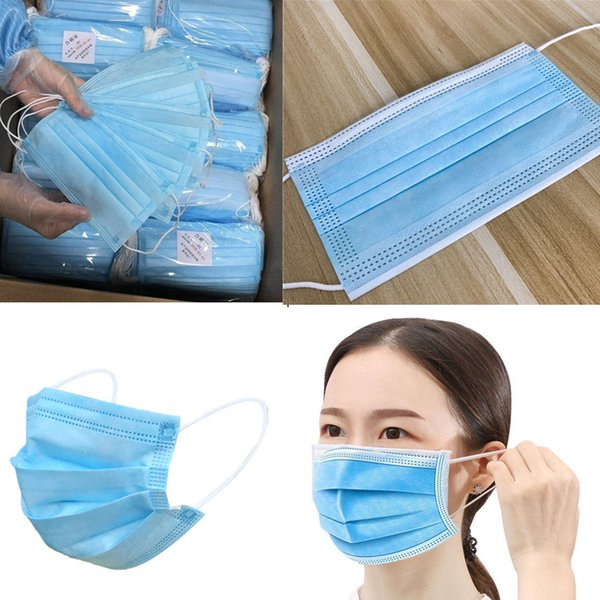 top popular home use kf94 3 Layers Non Woven Face Masks old children face mask Ear Loop Anti-Dust Disposable Face Mask Facial Protective In Stock n06 2020
