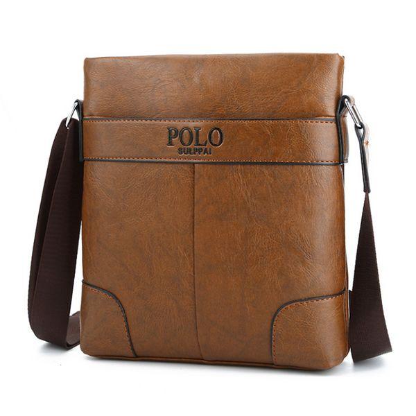 Henghsheng Fashion Casual Men Vertical Bag Quality Leather Men Crossbody Bag Fashion Business Leather Messenger