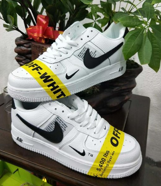 Basket Homme Nike Air Force 1 OFF WHITE