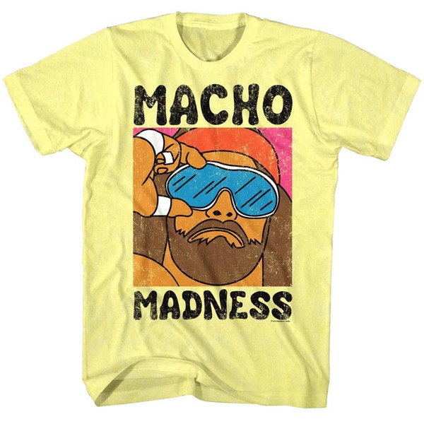 UFFICIALE Macho Man Randy Savage Madness Cartoon Wild Life T-shirt da uomoMen Women Unisex Fashion tshirt Spedizione gratuita divertente