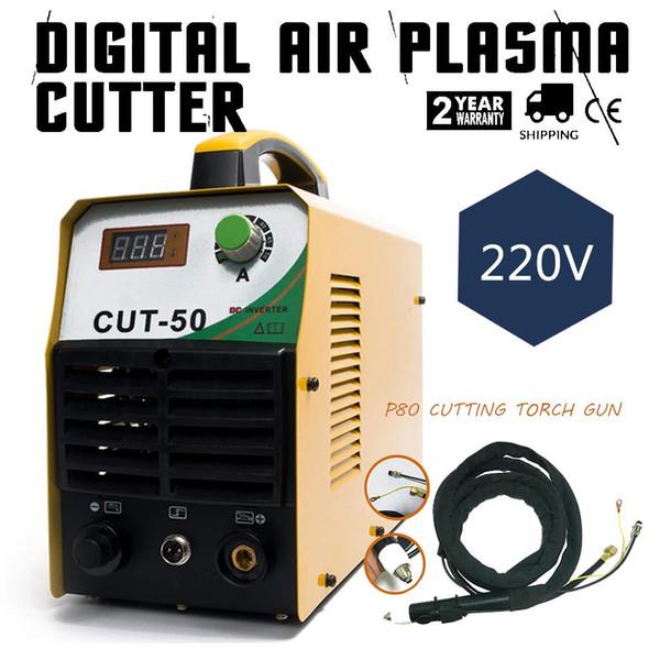 Taglio al plasma DC Inverter 20-50A 220V Cutting Machine Cut-50 con cannello da taglio P80 Morsetto di messa a terra