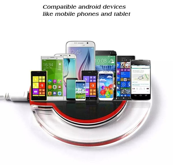 Universal QI Fantasy Wireless High Quality Phone Charger Fast Charging Compatibility for all Qi-enabled Devices with 50CM Cable