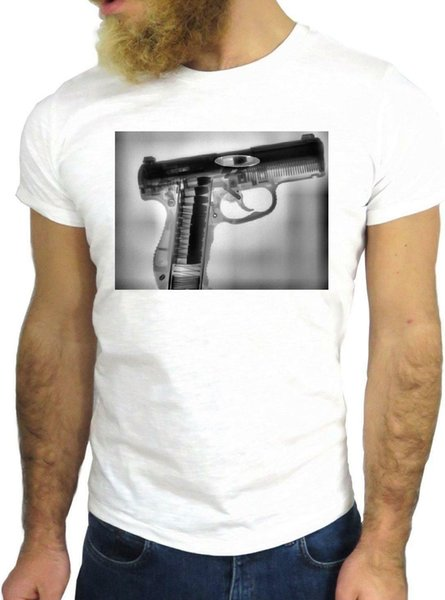 T SHIRT JODE Z3497 GUN WEAPON AMERICA ARMY X RAY FUNNY COOL FASHION GGG24 Men Women Unisex Fashion tshirt Free Shipping Funny Cool