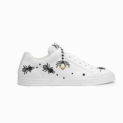 a51d7705 Best Quality Mens Womens Luxury Brand Insects Designer Shoes Embroidery  Small Monster Genuine Leather Sneaker Casual Shoes White Black FF F Comfort  ...