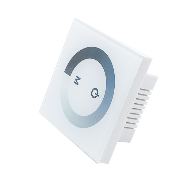Edison2011 12V-24V Wall Type Touch brightness LED Panel Dimmer for 3528 5050 2835 Single Color LED Strip Tape LED Module Free ship