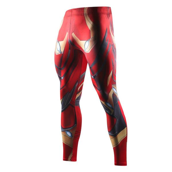 2018 New High Quality Men Skinny Pants 3D PatternIron Man Flash Bodybuilding Jogger Fitness Skinny Leggings Trousers