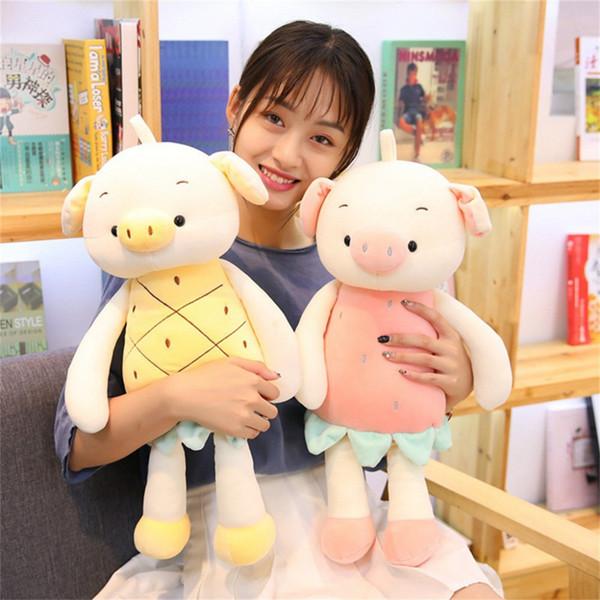 1PC fruit pig plush toy 35cm stuffed animal plush doll playing children's music pig education anti-stress toy gift F3