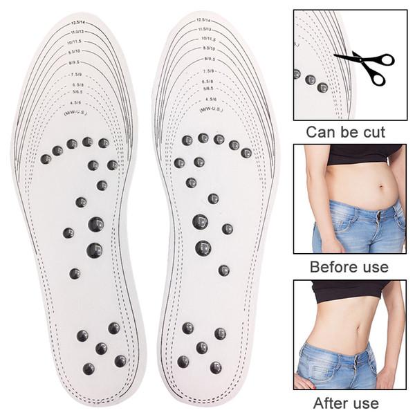 1 пара точечные стельки для похудения массажер для ног магнитотерапия массаж для похудения стелька zapatos mujer