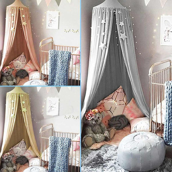 Baby Crib Netting Hanging Round Dome Bed Canopy Mosquito Net Kids Hide Game Tents Baby Room Curtain Bedding Decorations Tools