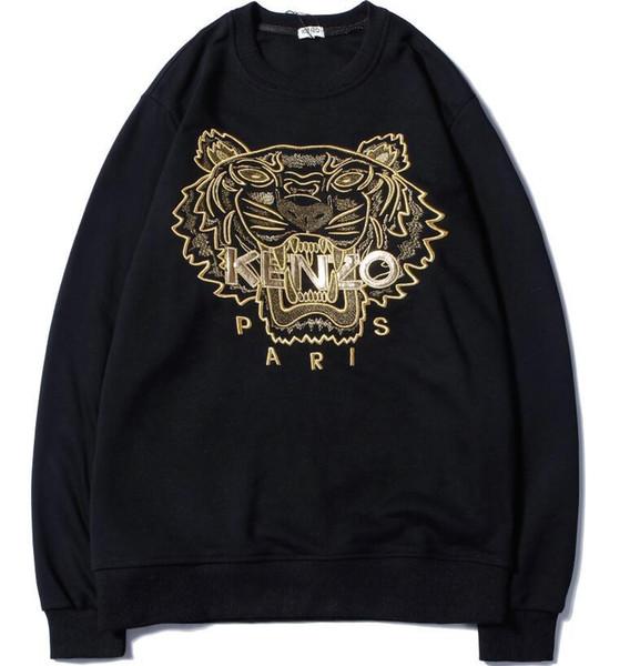 Nouveau haute qualité broderie tête de tigre hommes femmes Hoodie Hip Hop Streetwear Hoodie Jogging Pullover Sport VESTE Hoodies