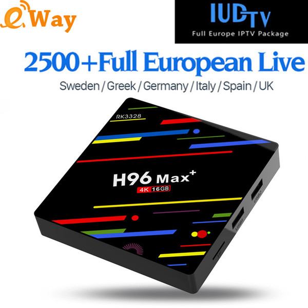 IPTV Sweden Box H96 MAX+ Android 9 0 TV Box With 1 Year IUDTV IPTV Germany  Greece UK Arabic IP TV Top Box Set Top Box Review Tv Box Xbmc From