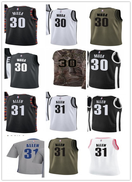 size 40 a2c8e 9450c 2019 Custom Basketball Jersey 2019 Your Selected Jerseys 30 Dzanan Musa#31  Jarrett Allen Jerseys Men#WOMEN#YOUTH#Men'S Baseball Jersey From ...