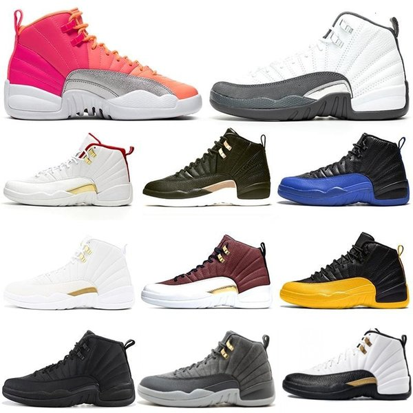 best selling 12s men basketball shoes 12 HOT PUNCH Game Royal REPTILE Dark Grey Reverse Taxi playoffs mens trainers Sports Sneakers 7-13