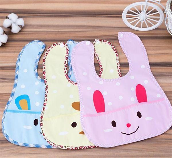 Pocket Baby Bibs Waterproof Cute Rabbit Baby Kids Bibs Saliva Towel Feeding Lunch Bandana Apron Bibs Burp Cloths For Children
