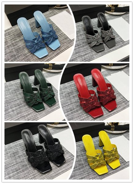 Summer high heel thick heel slipper summer wear new leather thick heel fashion casual flip-flops casual women\'s slippers
