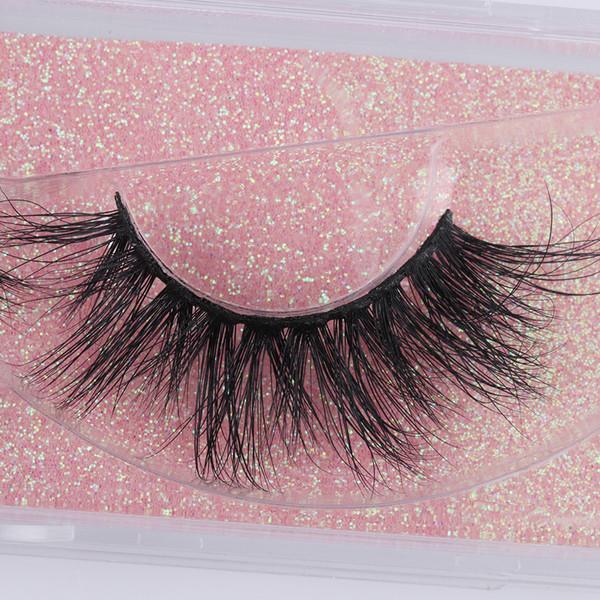 Natural 3D Mink Hair False Eyelashes Crisscross Strands Handmade Wispy Long Lashes Extension Eye Makeup Beauty Tools Wimpers