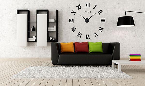 Decoración diy reloj de pared espejo de acrílico reloj de pared clásico número de roma moda reloj de pared creativo pegatinas en casa wang