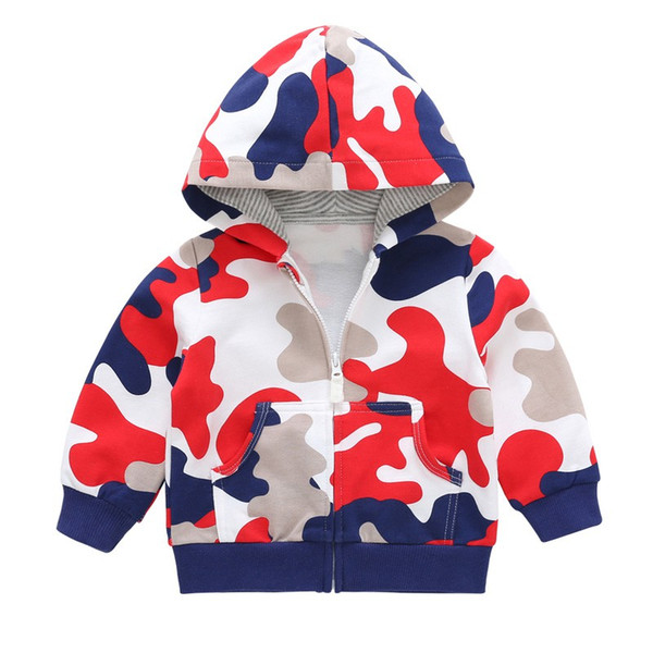 Baby Clothes Autumn Children Girls Boys Camouflage Jacket Hooded Cardigan Hoodies Coat Cotton Long-sleeve Clothes For Kids